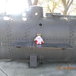 Pat on the submarine replica