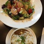 Chicken & Andouille Gumbo and Victory Garden Salad with champagne vinaigrette