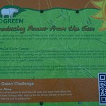 Sign on the go green- the solar panels on the parking.