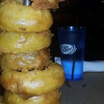 How the Onion Rings are served