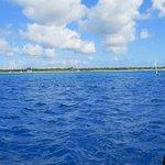 Amazing blue Cozumel water