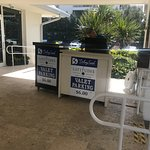 Parking pay booth