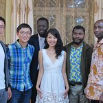 Our founder Nominjin with the distinguished guests, father Herve from UB catholic Mission