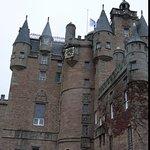 Exterior of Beautiful Glamis castle