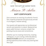 Always a perfect Gift: Maison st-Aubin's Gift Certificate