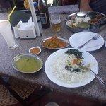 Nepali lunch at bouddhnath