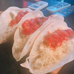 Yummy Tacos which were at 50 Pesos when this place re-opened last month. Yummmmmmmmm!