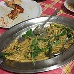 Pasta with oignons