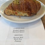 Pistachio croissant never made it into the to go bag but in my belly!