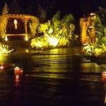 giardino la sera