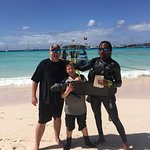 Myself, My Son and Andre post dive