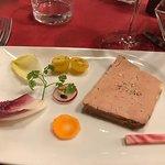 Foie gras entrée with unusual accompaniments