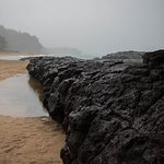 Passing rain shower on a Kauai beach. One of the stops on our photo tour.