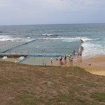 Bulli beach pool from the Cafe