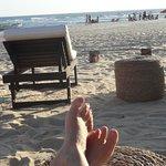 Como disse. Na piscina com o pé na areia!!