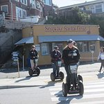 Setting off on our Segway adventure
