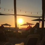 Beach sunset just outside of Beef O' Brady's.