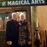 My wife and I at the Magic Castle