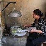 Rice paper maker in Tho Ha village