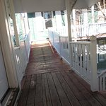 walkway to back rooms outside