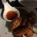 Crisp deep fried chicken wings
