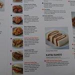 Hot food menu
