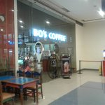 interior of Cybergate Mall, exterior of Bo's Coffee
