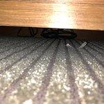 litter under the desk