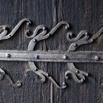 Urnes Stave Church. Door hinge detail