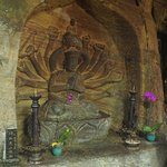 Inside Fairy Cave; rock-cut statuary