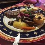 faux filet champignond et légumes divers,beurre citron à tomber!!