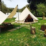 Glamping Bell Tents in Touring Park