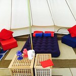 Inside of our Bell Tents