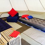 Inside of Bell Tent