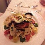 Une très belle entrée : tartelette aux petits légumes et foie gras