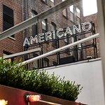 Outdoor Patio of The Americano Restaurant