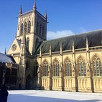 St. John's College Chapel in the snow and sun...