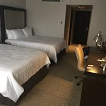 New remodeled room . We were told we were the first here to try them out . WiFi kickoff but  at