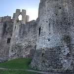 Out side chepstow castle