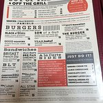 Menu - lots to choose from