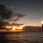 Tiki torch at dusk