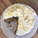 """carrot cake """"gate"""", was that really 1 portion!!"""