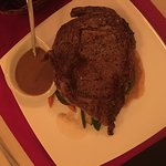 Rib Eye with Tres Chiles Sauce and Chipotle Mashed Potatoes