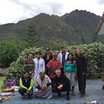 us with the doctor, the centre coordinator, the priest and two of the shamans