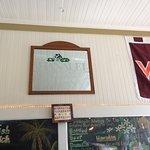 Colourful walls and menu boards