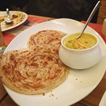 Malabar parotta with veg korma