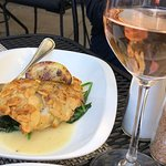 Almond Crusted Sole. Very refreshing, especially if you eat it with a glass of rose!