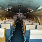 Inside cabin of a Vicker's Viscount...newly restored.