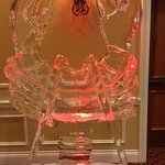 Maine Fishermen's Forum seafood reception lobster ice sculpture