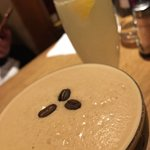 Salted caramel espresso martini, French 75